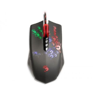 Mouse Bloody Blazing A6A Gamer 4000 CPI Preto - 8 Botões + 1ms + Macro (Ultra Core 3 Ativado)