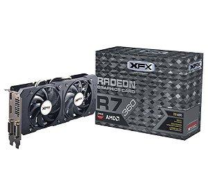 Placa de Vídeo VGA AMD Radeon XFX R7 360 2GB DDR5 128 bits 1050MHZ R7-360P-2DF5