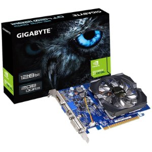Placa de Vídeo VGA Gigabyte GeForce GT 420 2GB DDR3 128 Bits Nvidia PCI Express 2.0 - GV-N420-2GI Rev. 3.0