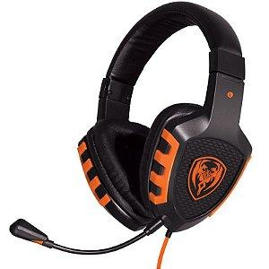 Headset Gamer OEX Fire - Som de alta definição, conexão P2 (audio e mic) - HS-202