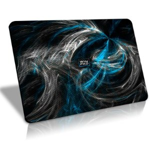 Mousepad Gamer WinPad AURA Blue Médio Control (36cm x 28cm x 0.3cm)