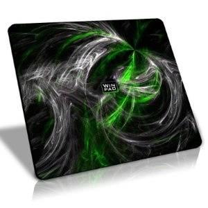 Mousepad Gamer WinPad AURA Green Grande Control (45cm x 40cm x 0,3cm)