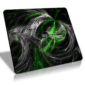 Mousepad Gamer WinPad AURA Green Médio Control (36cm x 28cm x 0,3cm)