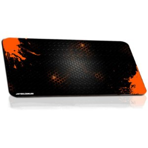 Mousepad Jayob Splash Orange Extended Speed Extra Grande - (95cm x 40cm x 0,3cm)