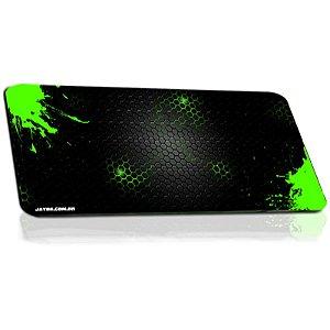 Mousepad Jayob Splash Green Extended Speed Extra Grande - (95cm x 40cm x 0,3cm)