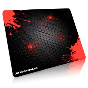 Mousepad Jayob Splash Red Grande Speed - (45cm x 40cm x 0,3cm)