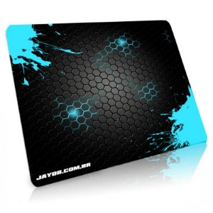 Mousepad Jayob Splash Teal Grande Speed - (45cm x 40cm x 0,3cm)
