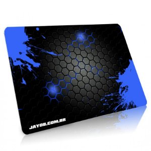 Mousepad Jayob Splash Blue Médio Speed - (36cm x 28cm x 0,3cm)