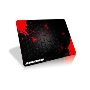 Mousepad Jayob Splash Red - Mini Speed (23cm x 19cm x 0.3cm)