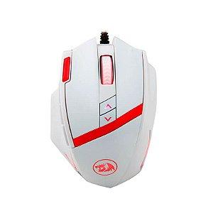 Mouse Redragon Mammoth 16400DPI 10 BOTÕES E AJUSTE DE PESO USB M801W (WHITE)