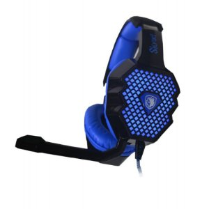 Headset Iluminado Sades Skynet SA-909 Fone Surround 7.1 USB - Outlet - Open BOX