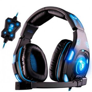 Headset Iluminado Sades Knight SA-907 Fone Surround 7.1 USB