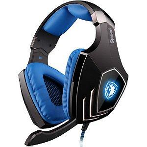 Headset Sades Spellond Fone Gaming Surround 7.1 USB SA-910 c/ Sistema de Vibração