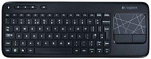 Teclado Logitech K400 Wireless TouchPad Sem Fio