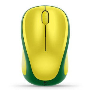 Mouse Logitech M317 Wireless Verde e Amarelo