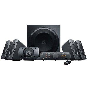 Caixa de Som Logitech Z906 Speaker System 500W RMS 5.1 THX Certified