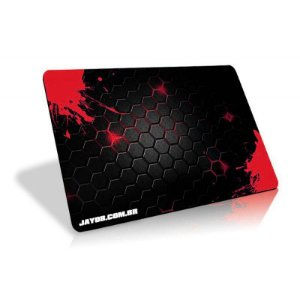 Mousepad Jayob Splash Red - Pequeno Speed (30cm x 21cm x 0,3cm)