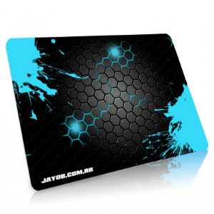 Mousepad Jayob Splash Teal - Médio Speed (36cm x 28cm x 0,3cm)