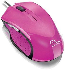 Mouse Multilaser Xgamer 2400 Dpi 6 Botoes Rosa - MO201 - Outlet Open BOX