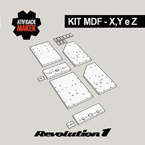 Kit Estrutura MDF Eixos X, Y e Z - Revolution 1