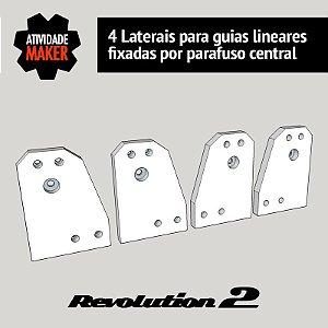 Laterais para guias lineares fixadas por parafuso central