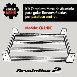 Kit Completo Mesa de Alumínio Grande - guias por furo central