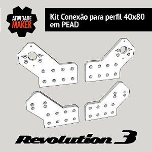 Kit Conexão para perfil 40x80 em PEAD