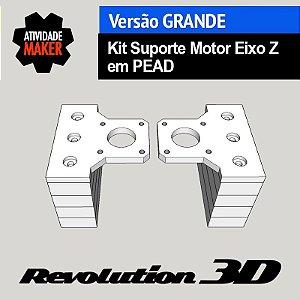 Kit Suporte Motor Eixo Z em PEAD