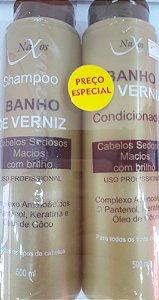 Kit Naxos Sh+Cond 500Ml Banho De Verniz