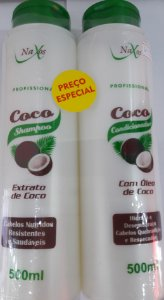 Kit Naxos Sh+Cond 500Ml Oleo De Coco