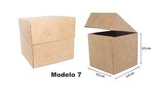 Caixinha papel kraft - 50 unidades