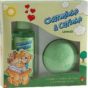 Estojo - Colônia Charminho & Carinho 120ml + 1 Sabonete 90g - Lavanda