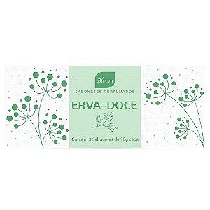 Sabonetes Erva-Doce Bloom - Estojo com 3 unidades 90g cada
