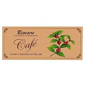 Sabonetes Café Biocare - Estojo com 3 unidades 90g cada