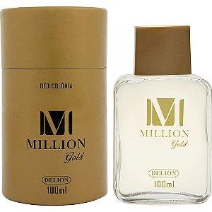 Lata com deo colônia - Delion 100ml - M. Gold