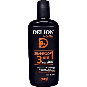 Shampoo 3 em 1 - Barba, Cabelo e Bigode