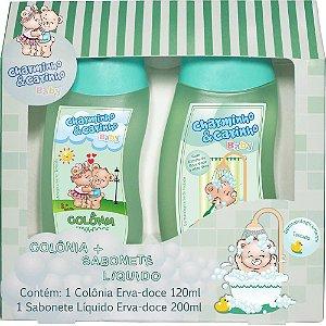 Estojo Colônia 120ml e Sabonete Líquido 200ml Erva-doce - Charminho & Carinho Baby