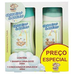 Estojo Shampoo e Condicionador 200ml Erva-doce - Charminho & Carinho Baby