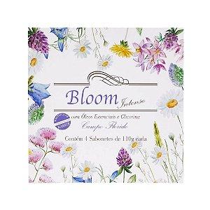 Estojo com 4 sabonetes Bloom Intenso Campo Florido