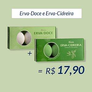 Kit 2 Estojos com 3 Sabonetes cada - Erva-Doce e Erva-Cidreira - Bloom