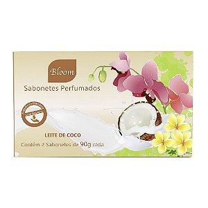 Sabonetes Leite de Coco 90g cada - Estojo com 2 unidades - Bloom