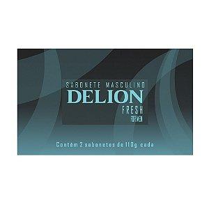 Sabonetes Masculinos Delion Fresh - Estojo com 2 unidades 110g cada
