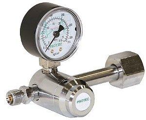 Válvula Para Cilindro C/ 1 manômetro Oxigênio - Protec