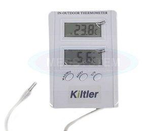 Termômetro Máxima e Minima para Ambiente interno e externo - Kiltler