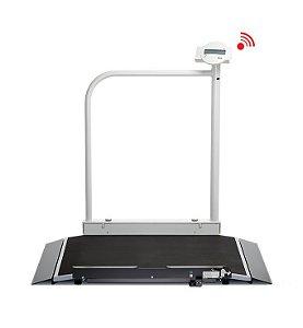 Balança para Cadeira de Rodas Sem Fios com Corrimão e Rodízios de Transporte 677 - Seca
