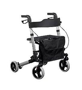 Andador de Alumínio 04 rodas, SuperLux, Freios, Assento - Mobil