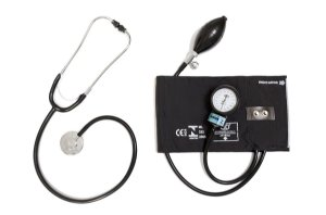 Conjunto Aparelho de Pressão Adulto Nylon Metal c/ Estetoscópio Adulto STD CJ0316  - Bic