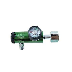 Válvula Rede Cilindro C/ Fluxômetro Digital P/ Oxigênio - Protec