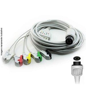 Cabo Paciente 5 Vias Compatível com AAMI - IEC / AHA Tipo Neo Pinch Encaixe - Vepex