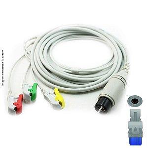 Cabo Paciente 3 Vias Compatível com BIOSYS Tipo Neo Pinch Solda EPX-C309-NS - Vepex